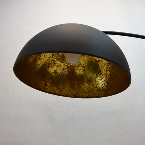 matt black gold lamp shade