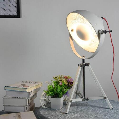 retro desk lamp white satellite lighting