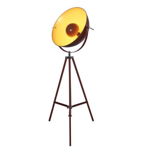 brown Satellite tripod floor lamp