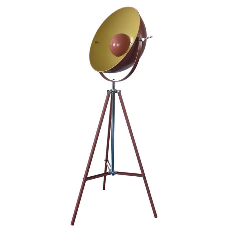 yellow brown retro Satellite tripod floor lamp