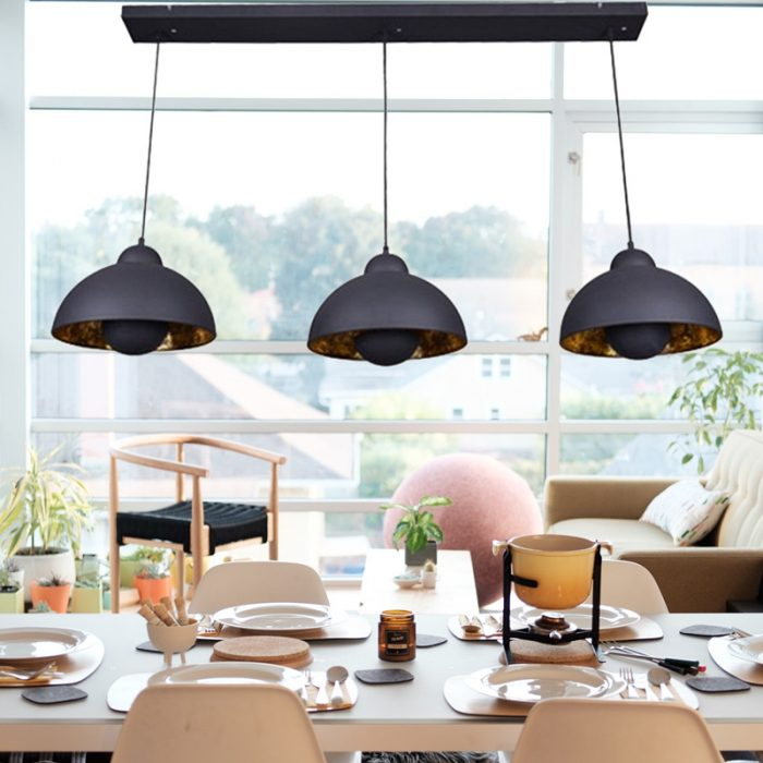 Retro lampshade chandelier hanging lampHollywood satellite ceilling lights