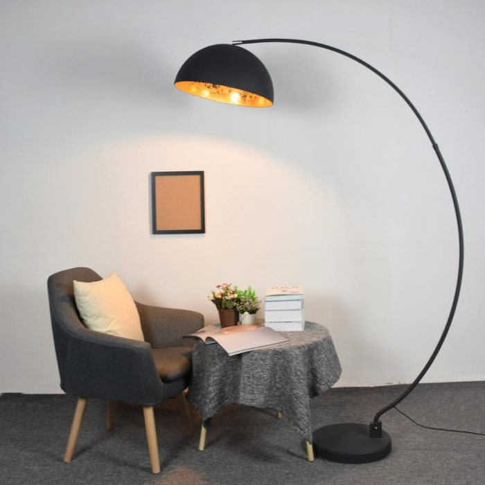 floor lamp arc golden-sun-retro