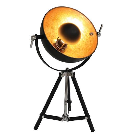 Retro desk lamp black gold color