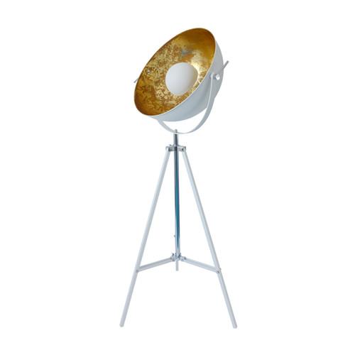 Satellite floor lamp white golden