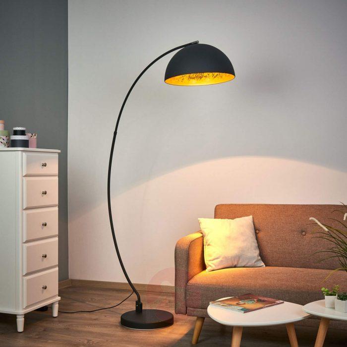 golden-sun-arc-floor-lampVLOERLAMP