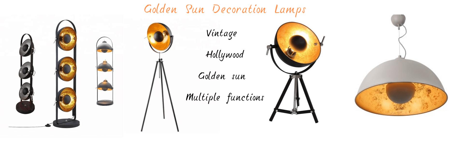 golden sun decoration lamps supplier factory