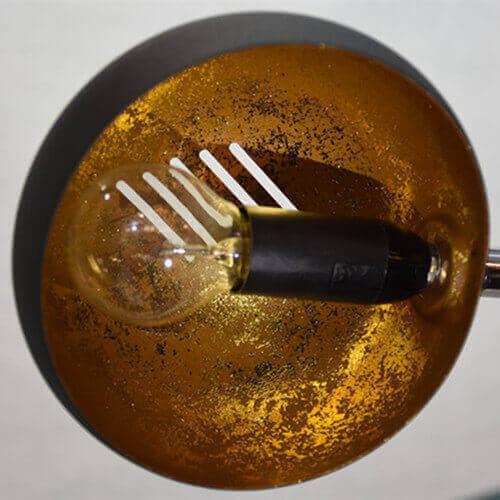 metal gold foil lamp shade arc floor lamp