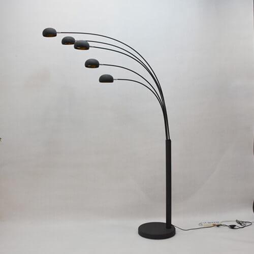 arc floor lamp gold metal 5lights lamp