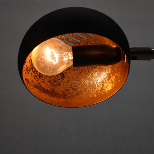 metal gold lamp shade arc floor lamp