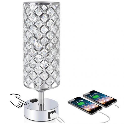 2 usb port table lamp