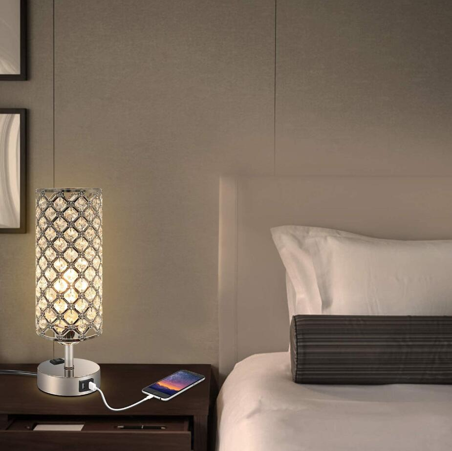 2 usb table lamp for phone charging