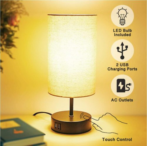 Bedside lamp with usb port