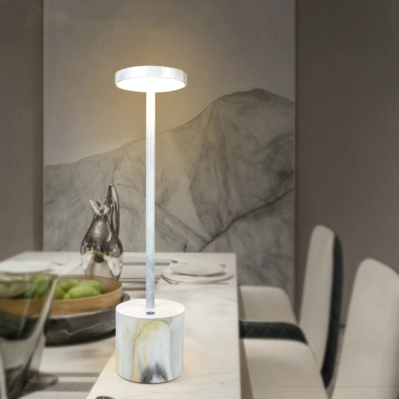 Cordless lamps for tables marble
