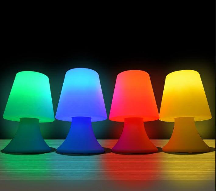 batery operated rgb small table lamp