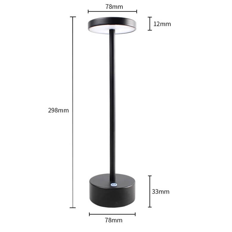 cordless lamps battery operated black