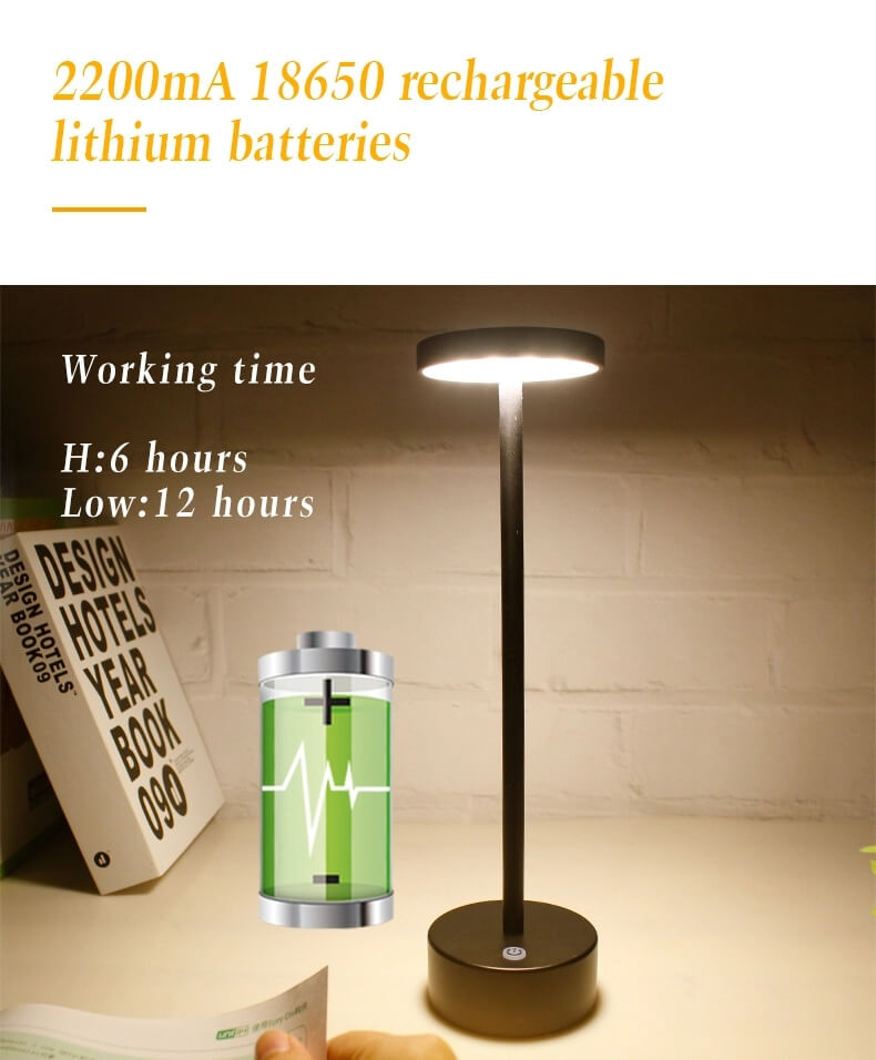 cordless lamps battery operated table lamp