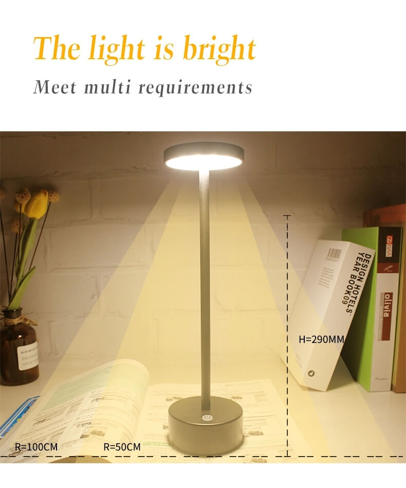 cordless lamps battery operated table light