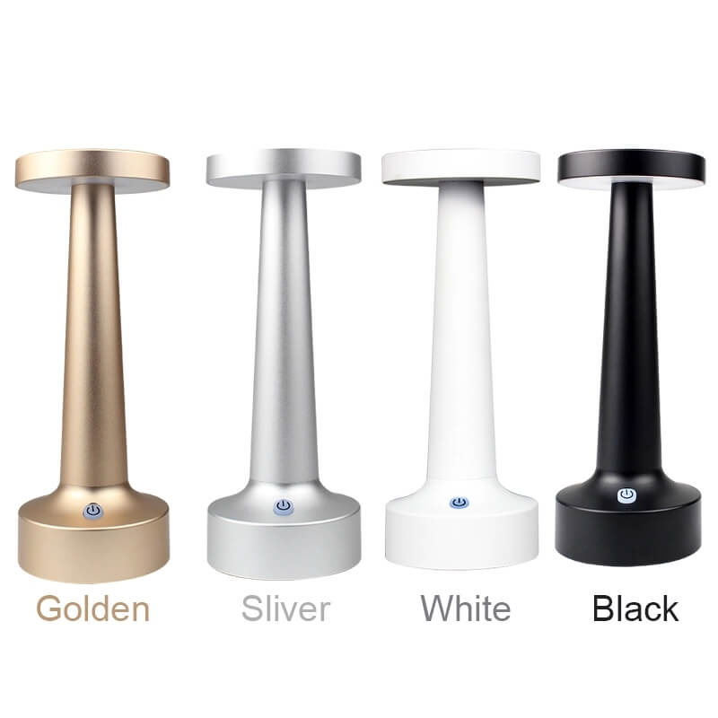 cordless lamps for tables gold silver white black
