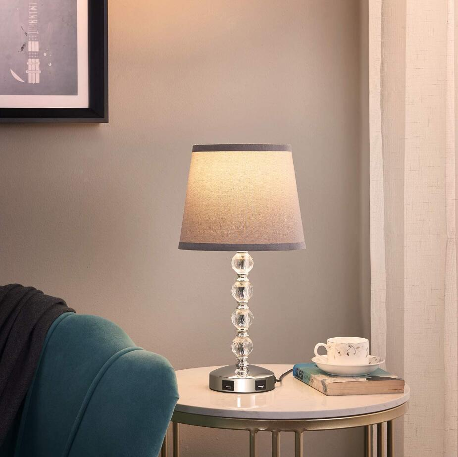 crystal usb table lamp desk light