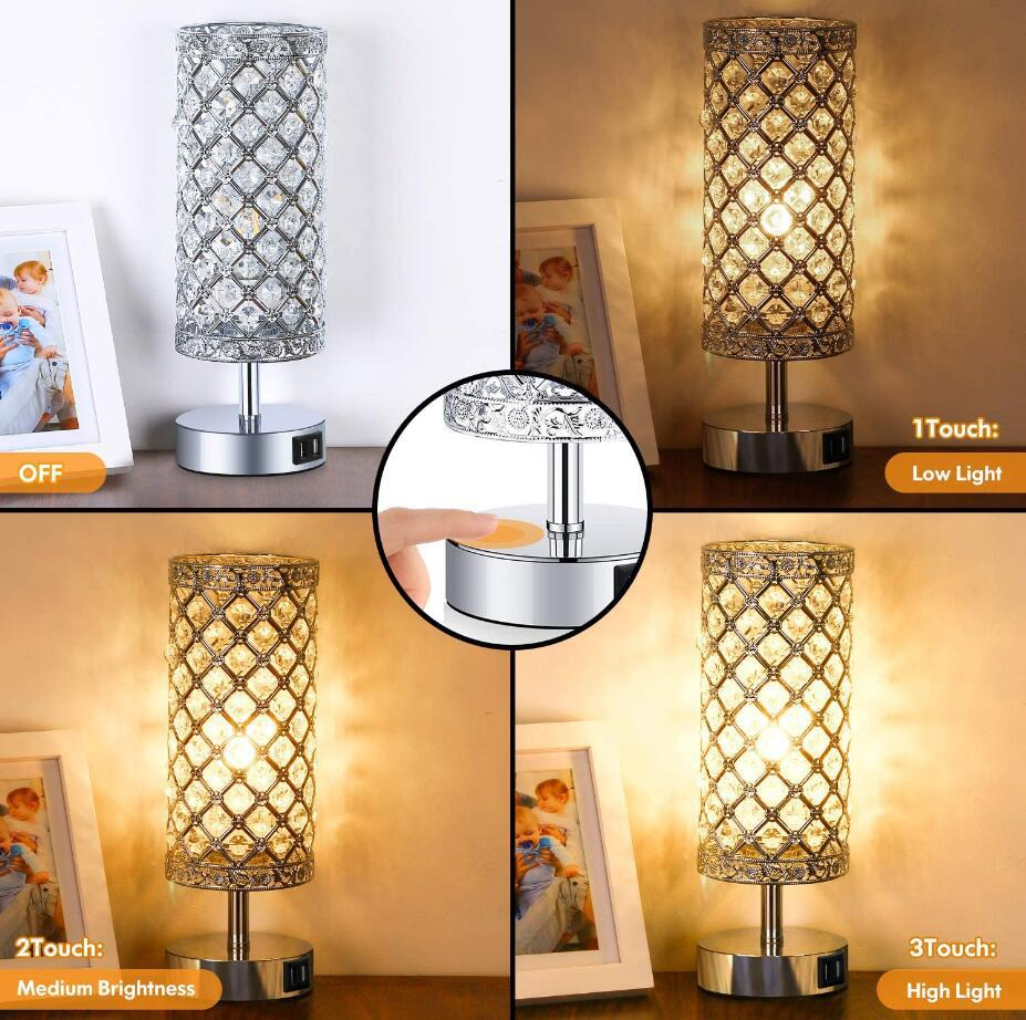 dimmable USB port table lamp