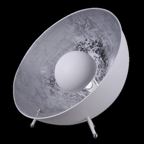 floor lamp vintage white silver foil