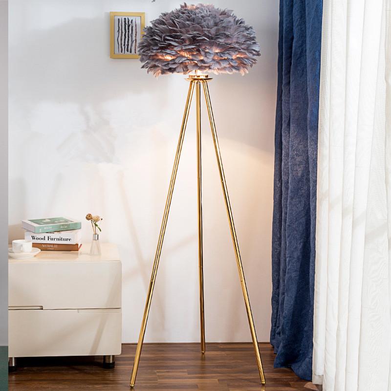 grey feather lamp floor lamp trpiod