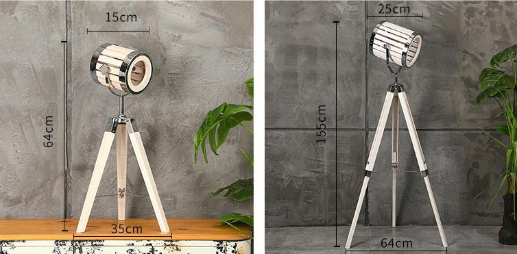 industrial floor lamp for living room table light sizes