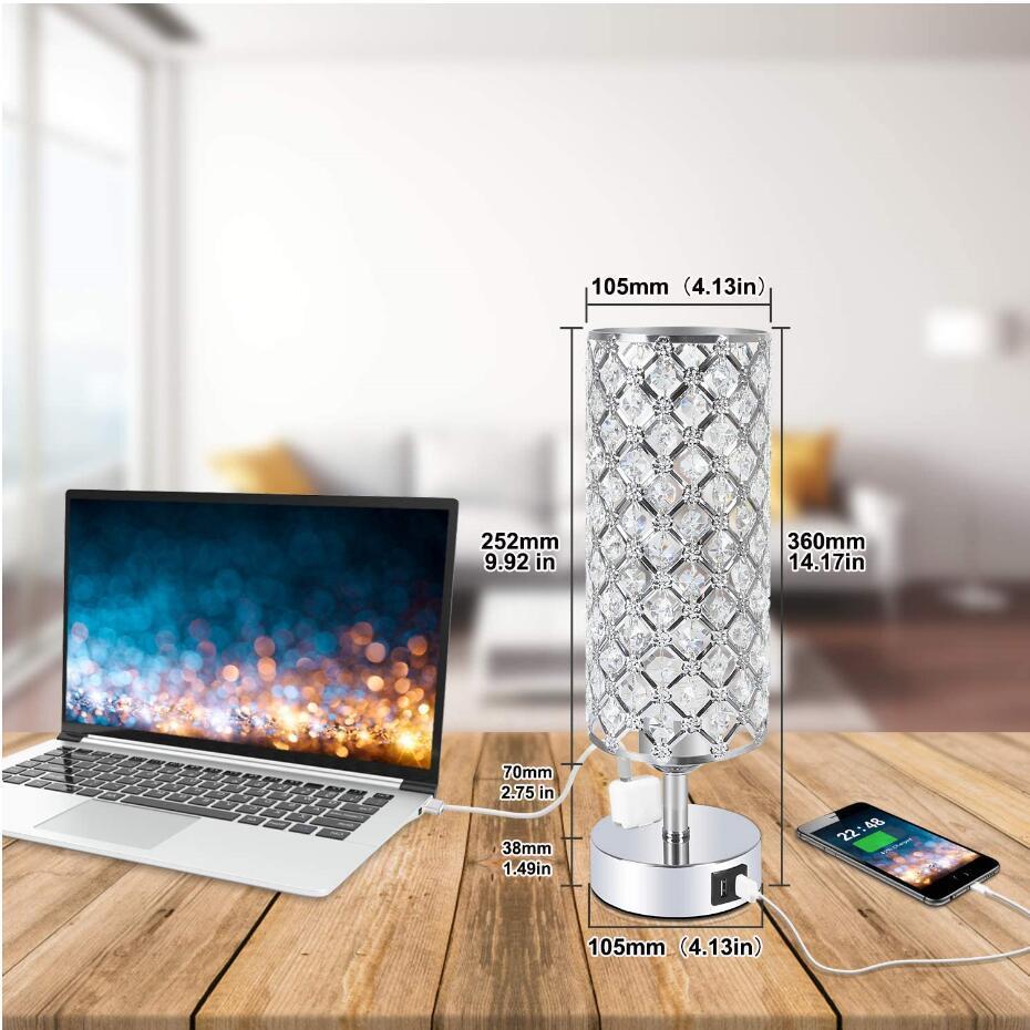 k9 crystal 2 usb table lamp