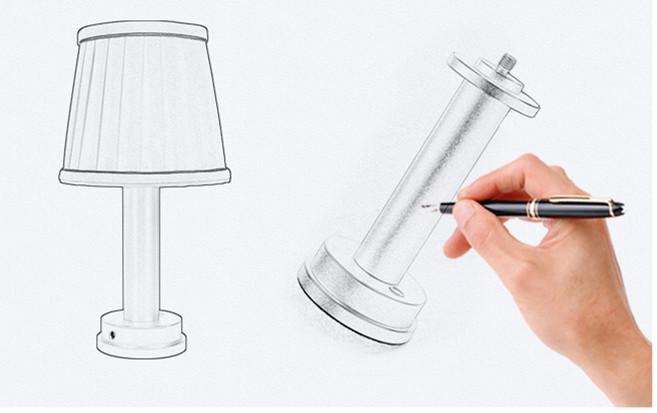 led wireless lamp minimalist design