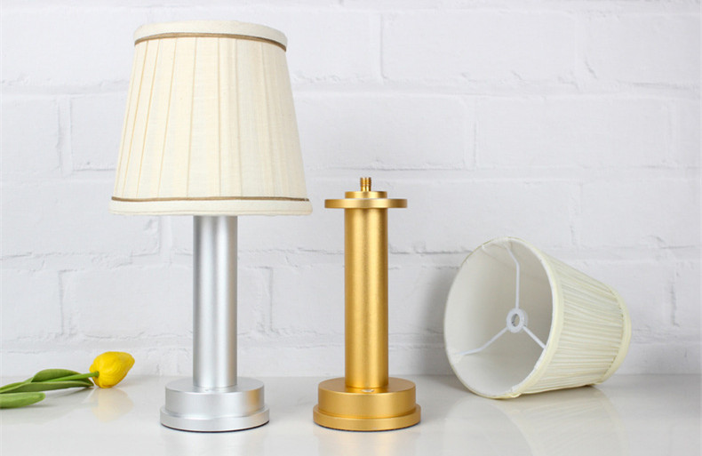 led wireless lamp silver gold