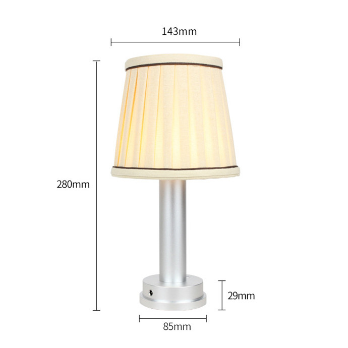 led wireless lamp sizes