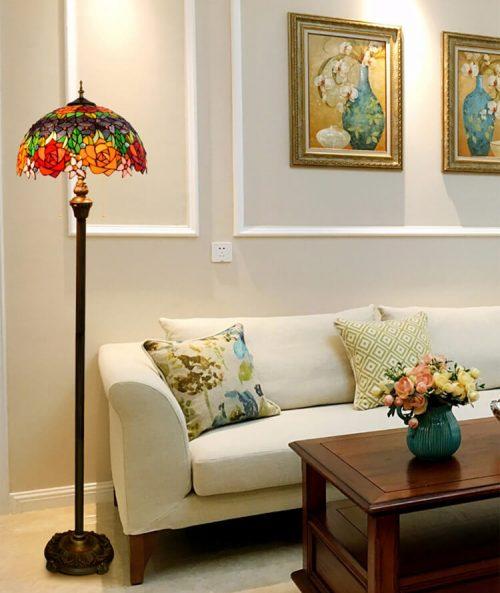 living room tiffany lamp floor light