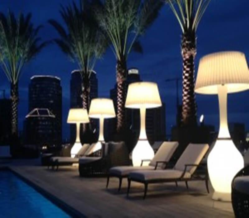 outdoor floor lamp modern