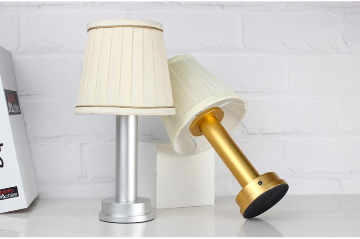 silver gold led wireless lamp