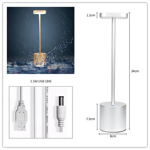 battery lamps for tables led minimalist light size