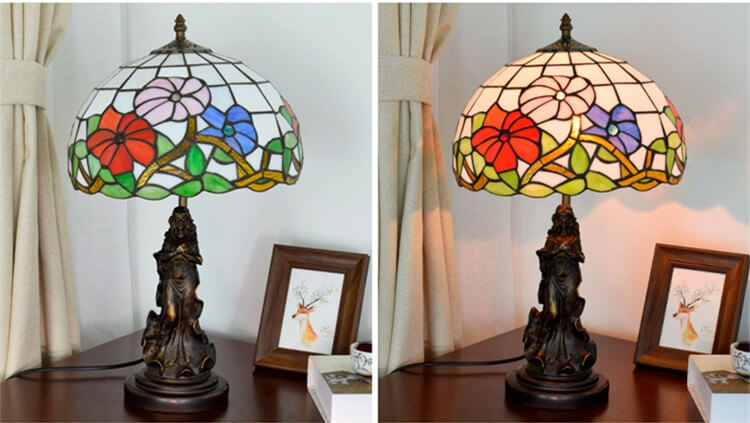 tiffany lamp with angel girl bar light