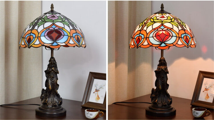 tiffany lamp with angel girl desk lamp