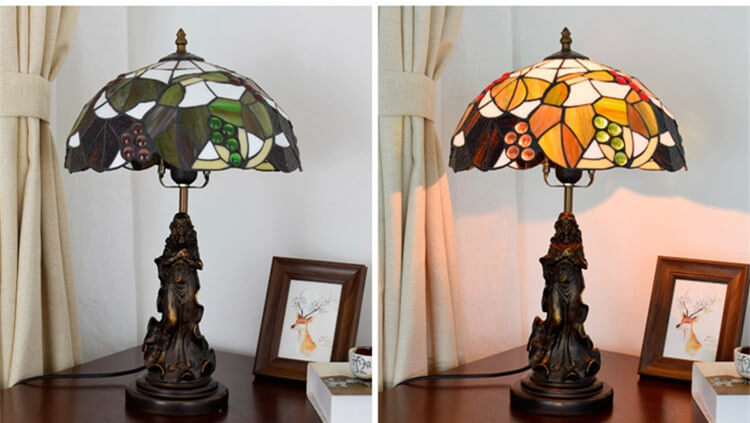 tiffany lamp with angel girl home lamp