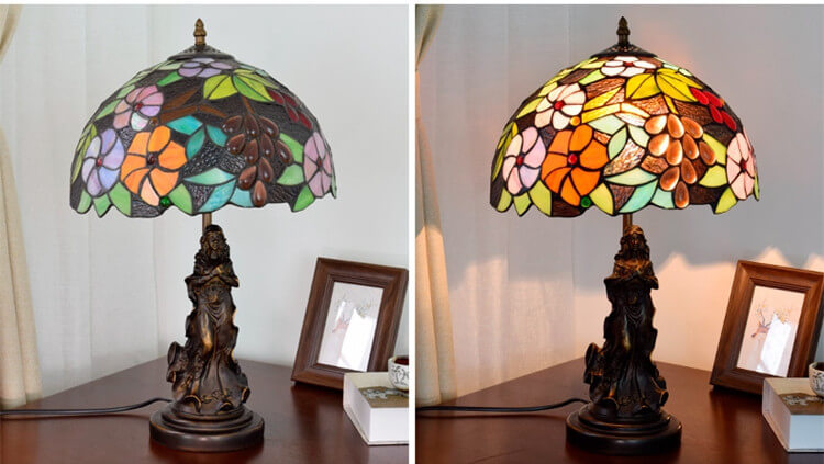 tiffany lamp with angel girl home lighting