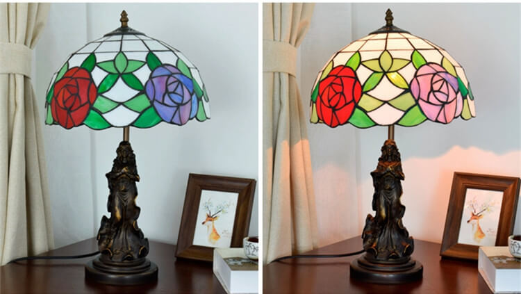 tiffany lamp with angel girl living room lamp