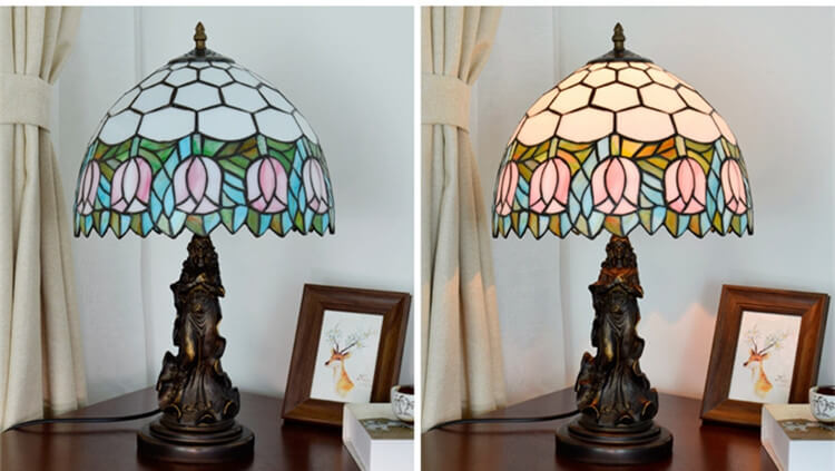 tiffany lamp with angel girl restaurant lamp