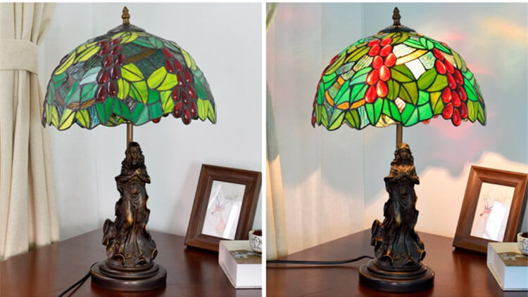 tiffany lamp with angel girl retro lamp