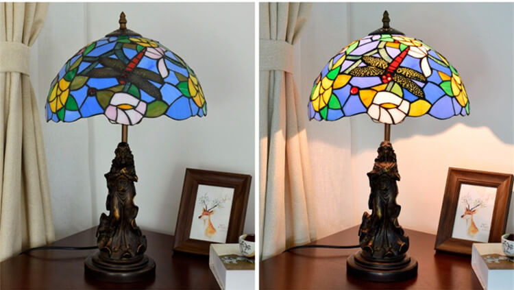 tiffany lamp with angel girl room lamp